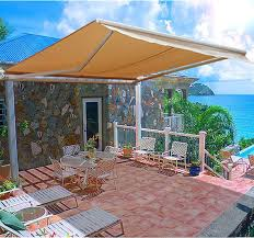 Manual Retractable Awning Aosom Outsunny 10 U0027 Manual Retractable Patio Awning Cream