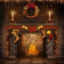 christmas backdrop ancient chimney photography christmas print photography backdrop