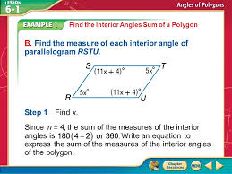 Interior Angles Of Polygon Concept 1 Answer The Sum Of The Measures Is Find The Interior