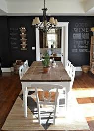 black and espresso farmhouse reclaimed wood plank style dining
