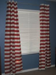 Blue Striped Curtains Blue And Red Striped Curtains Design Gallery With Bedroom