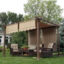 Pergola Ideas Pinterest by Garden Pergola Ideas Nice With The Fabric Roof Diy Garden