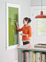 remodelaholic glass wall mounted dry erase message board plan