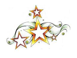 cheerful shooting star shaped tattoo design sketch tattoomagz