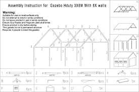 indoors out gazebo heavy duty 8 walls 3m x 6m the warehouse