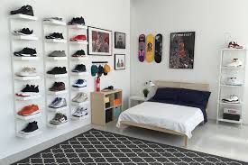 The Fashion Beat Cool Stuff For Your Dorm Room Apartment by Ikea And Hypebeast Design The Ideal Sneakerhead Bedroom Hypebeast