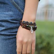 leather bracelet fashion images Women leather bracelet casual beaded vintage rope thezale jpg