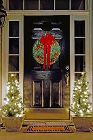 Christmas Window And Door Decorations by Front Door Christmas Decoration Ideas