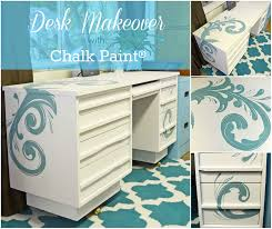 Chalk Paint On Metal Filing Cabinet Painted Desk With Chalk Paint Just Paint It Blog