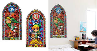 Stained Glass Window Decals Zelda Stained Glass Wall Decal Shut Up And Take My Yen