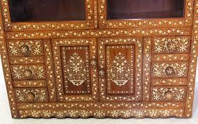 Wohnzimmerschrank Vintage Antik Indische Schrank Vitrine Antique Vintage Bone Inlay Indian