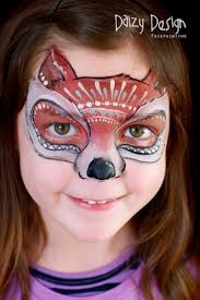140 best face painting dogs wolves foxes images on pinterest