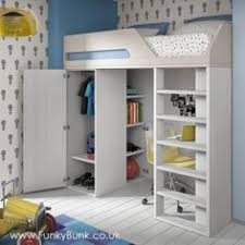 High Sleeper With Futon Childrens And Teenagers High Sleeper Bed With Futon Style Bed