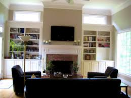 tv in living room with fireplace wall design modern family ideas