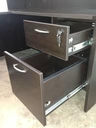 u shaped office desk with hutch of4s u shaped manager u0027s desk 66 u201dwide x 89 u201ddeep w one locking box