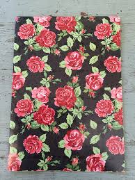 floral gift wrapping paper floral print wrapping paper folded wrapping paper