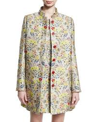 Womens Car Coat Womens Jacquard Coat Neiman Marcus