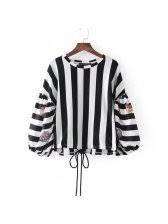 black and white striped blouse wholesale puff sleeve black white striped blouse design 3 4 days
