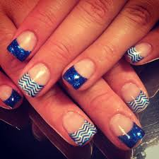 royal blue nails chevron nifty nails pinterest royal blue