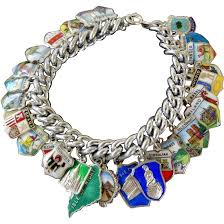 sterling silver charm bracelet charm images Vintage loaded sterling silver charm bracelet world travel 30 jpg