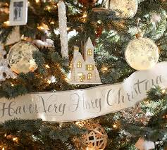How To Decorate Garland With Ribbon Have A Very Merry Christmas Glitter Script Paper Garland Pottery