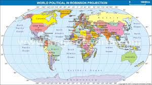 map of world world map in robinson projection