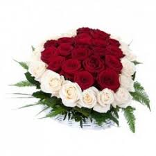 White Flower Arrangements S1 Flower Arrangement Heart With Red And White Roses Flowers Ee