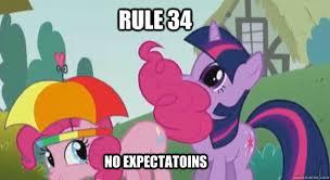 Mlp Funny Meme - rule 34 no expectatoins rule 34 mlp quickmeme
