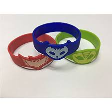 amazon pj masks silicone bracelet wrist band kids
