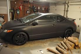matte black vinyl wrap honda civic google search car paint