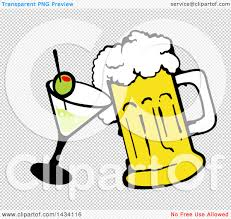 martini clip art png clipart of a cartoon martini cocktail and beer mug royalty free