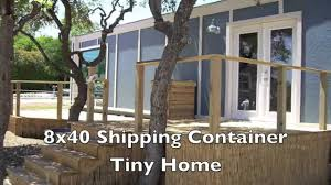 8x40 shipping container tiny home built by students youtube