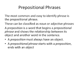 phrases prepositional phrases verbal phrases gerunds infinitives