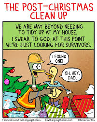 After Christmas Meme - post christmas clean up fowl language comics