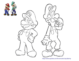 draw mario luigi coloring pages 75 additional coloring print