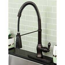 Oil Bronze Kitchen Faucet by Kitchen Dark Counter Top Also Tile Back Splash And Oil Rubbed