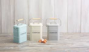 compost canister kitchen kitchencraft living nostalgia metal kitchen compost bin french
