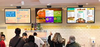 digital video menu board templates for restaurant at sign menu