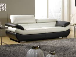 canapé 3 places cuir blanc canapé 3 places en cuir bi ton rosy au prix imbattable