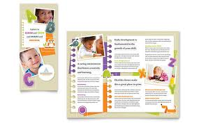 free template for brochure microsoft office kindergarten tri fold brochure microsoft word template