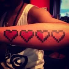 8 bit heart u201cshow me a man with a tattoo and i u0027ll show you a man