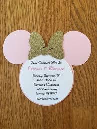 minnie mouse pink gold glitter invitations minnie invitations