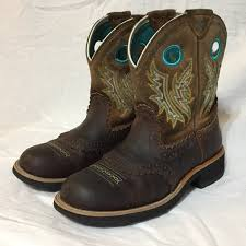 womens ariat fatbaby boots size 11 68 ariat shoes ariat fatbaby s brown teal