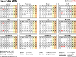 calendar 2017 uk 16 free printable pdf templates