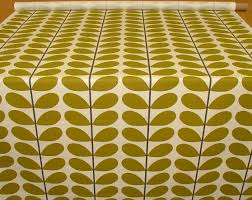 orla kiely two colour stem olive curtain blind upholstery fabric
