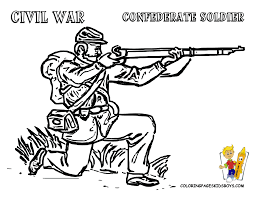 01 civil war army soldier coloring pages kids boys gif 1056