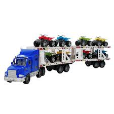 toy truck carrier race cars atvs boys kids toddlers