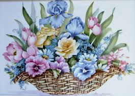 flower baskets 1119 b flower basket ceramic by wilma manhardt