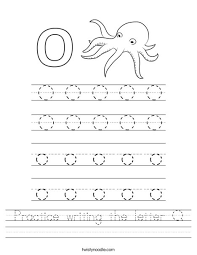 practice writing the letter o worksheet twisty noodle
