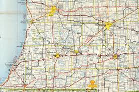 Chelsea Michigan Map by Interstate Guide Interstate 94